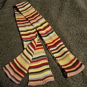Multi colored scarf or belt...your preference